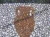 pavimento in ciottoli a mosaico