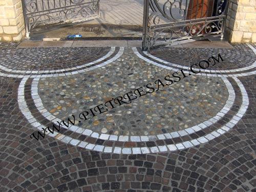 Decorazione pavimento in pietra carrabile pietreesassi - Sassi decorativi per interni ...