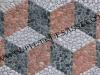 mosaico cubi tridimensionali in ciottoli