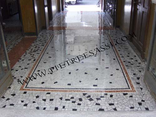 Pavimento palladiana e mosaico di marmo pietreesassi