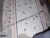 palladiana e fasce in tessere di marmo