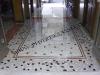 pavimento in palladiana e mosaico di marmo