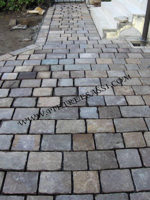 Pavimentazioni in porfido pietreesassi - Pavimentazione cortile esterno ...