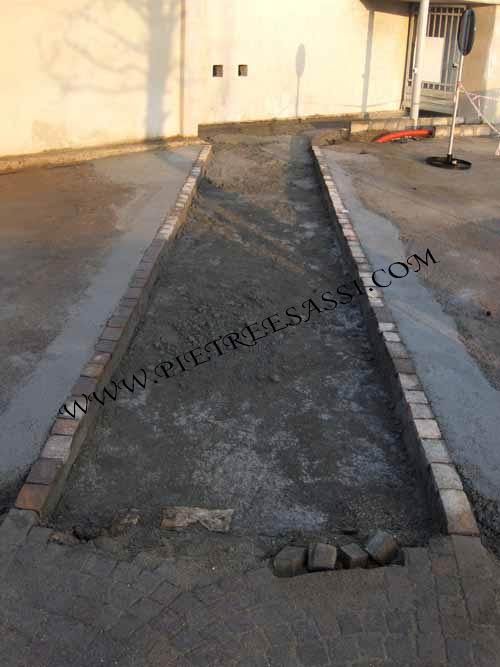 fondazioni pavimento in pietra