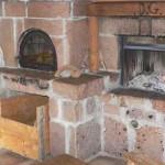 rivestimento cucina con pietra antica masselli