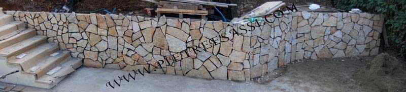 rivestimento muro pietra di Trani