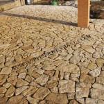 pavimento pietra di Trani a mosaico
