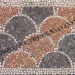 coda di pavone ciottoli mosaico