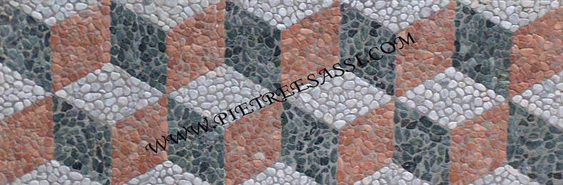 rombi ciottoli mosaico