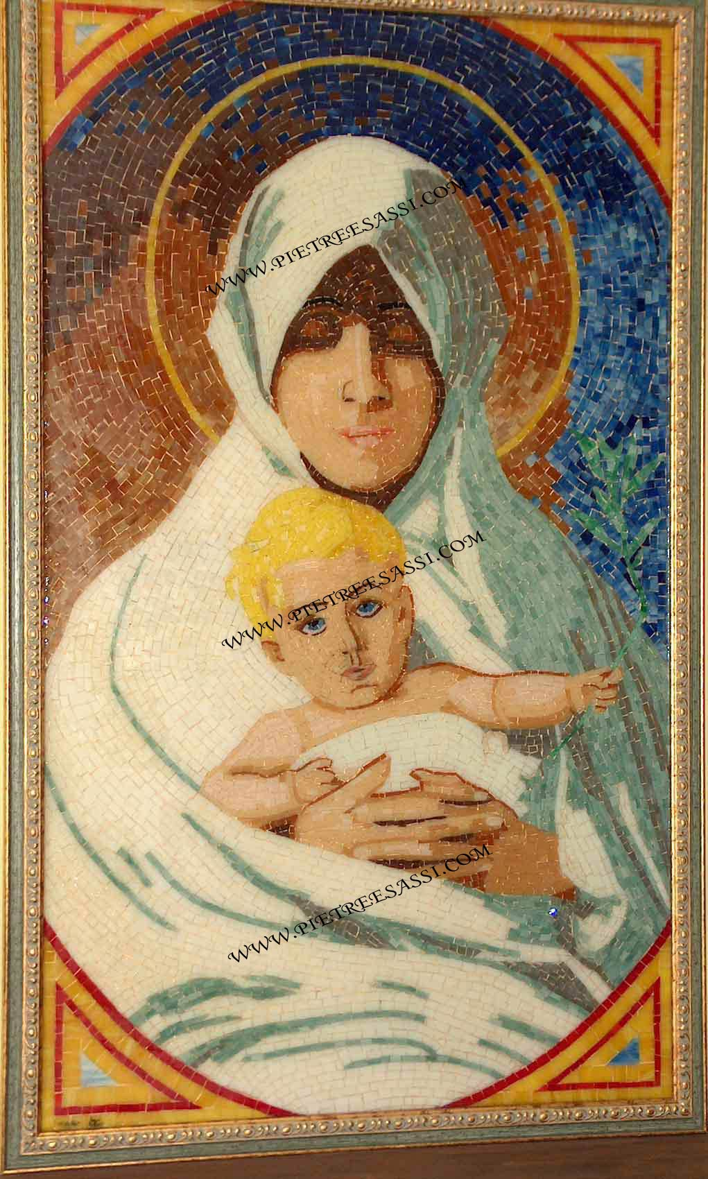 madonna con bambino mosaico