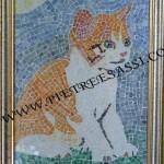 micio mosaico vetro