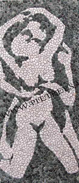 mosaico delfini ciottoli