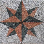 rosa dei venti mosaico