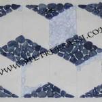 mosaico con ciottoli di marmo