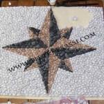 mosaico indiretto con ciottoli