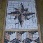 armatura mosaico in ciottoli