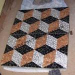 mosaici in ciottoli accostati
