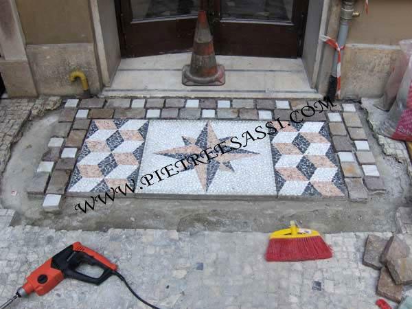spesso mosaico per pavimento | PIETREESASSI DA69
