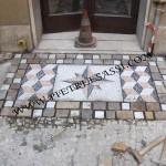 completamento lavori di posa mosaico
