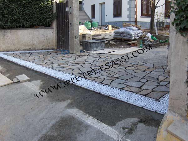 Porfido opus incertum archivi pietreesassi - Pavimentazione giardino senza cemento ...