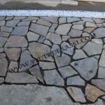 posa ingresso pavimento a mosaico di porfido