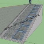 progetto rampa in pietra con gradoni