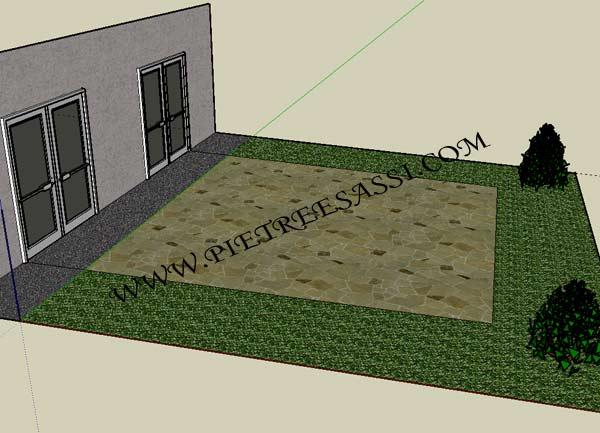 Pavimentazione in pietra pietreesassi - Pavimentazione cortile esterno ...