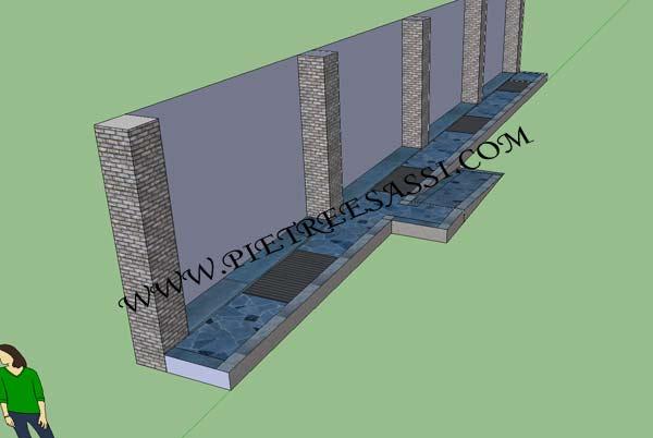 Pavimentazione esterno pietreesassi for Case con verande tutt attorno